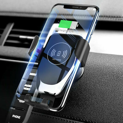 Qi Wireless Charger Car Air Vent Mount Holder For iPhone 8 MAX Samsung S8 S9 S10