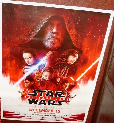 "Star Wars:the Last Jedi (2017) 27"" X 38"" Poster Original India # 2"
