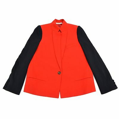 Authentic Givenchy 100% Wool Jacket Outer Suit Red Black Women Ladies 38 Italy