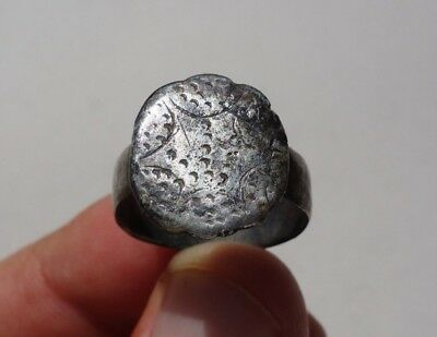 ancient Roman - Middle Ages silver beautiful carved ring