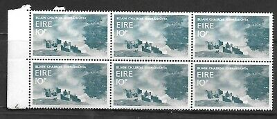 Mint block of 6 X 10 pence Eire  1967 stamps