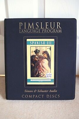 Pimsleur Spanish III Language Level 3 30 Lessons 16 Discs