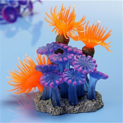 Silicone Artificial Plants Coral Flower Aquarium Fish Tank Decoration Supplies