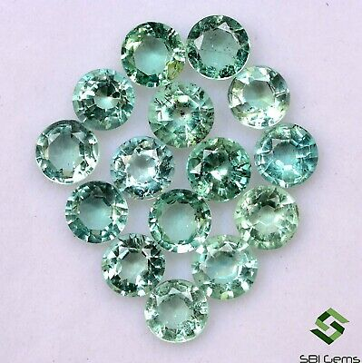 2.32 Cts Natural Emerald Round Cut 4 mm Lot 10 Pcs Faceted Loose Gemstones