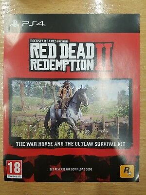 PS4 Red Dead Redemption 2 War Horse and Outlaw Survival Kit DLC code NO GAME