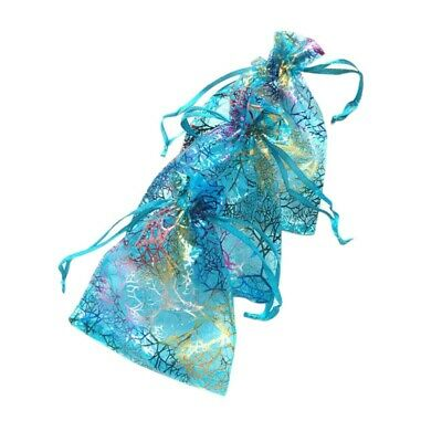 100 pcs Sheer Wedding Party Favour Gift Candy Bags Organza Jewelry Pouches