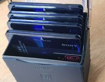 OFFICIAL Sony MINIDISC Storage Box - COMES WITH 4 USED DISCS