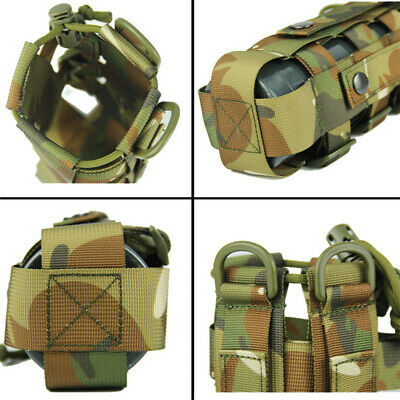 New Outdoor Water Bottle Pouch Camouflage Tactical Kettle Chest Shoulder Bag LH