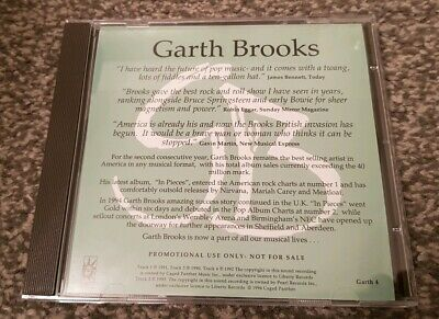 Garth Brooks - Friends In Low Places Live UK Promo CD Very Rare NEW GARTH4
