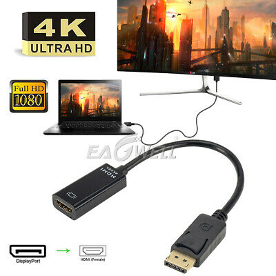 Display Port Male DP to HDMI Female Adapter Cable Converter Cord 1080P 4K