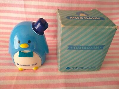 Ceramic Mini Sumitomo Bank Tuxedo Sam Sanrio Vintage 80s Japan
