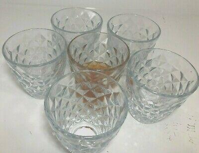 Set of 6 Wine Whiskey Champagne Glass lead-free Crystal Diamond Glass Christmas