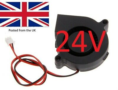 3D Printer 24V DC 50mm Blower Radial Cooling Fan with short lead 2 pin JSt