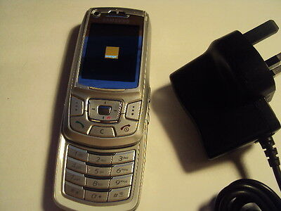 Samsung Z400 Senior Kids Cheap Simple Disable Mobile Phone On Orange +Charger