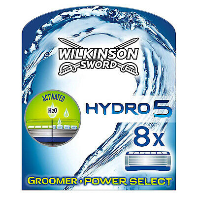 Wilkinson Sword Hydro 5 Groomer & Power Select Lames de Rasoir Pack de 8