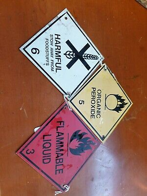 Signs x 3 used safety signs display