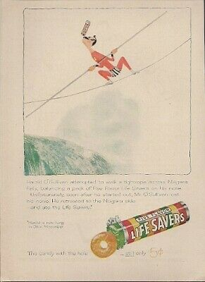 1957 Vintage Ad Life Savers Candy with the Hole Still Only 5 Cents