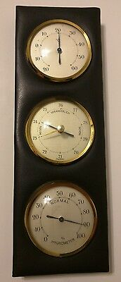 Vintage Hanging Weather Station Thermometer Gauge Frisy Germany