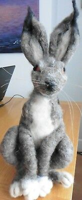 Hand Made Needle Felted Brown Hare
