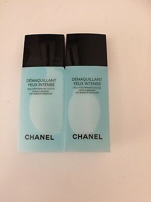 CHANEL DÉMAQUILLANT YEUX INTENSE 2x100 ML*LOT MAQUILLAGE*STRUCCANTE*REMOVER