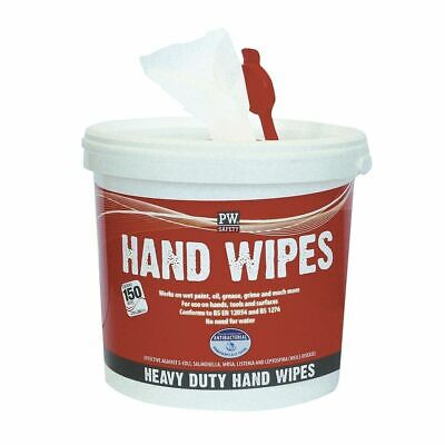 Portwest Anti Bacterial Hand Cleaning Wipes 150 wipes Industrial Paint Grease