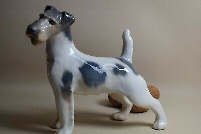 Foxterrier Kopf oben 17cm 2967  Royal Copenhagen Hund animal figurine dog chien