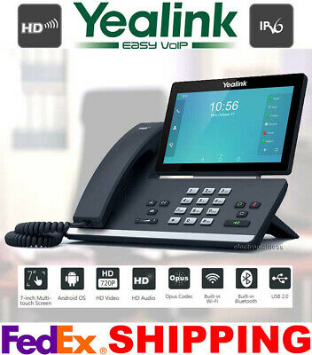 YEALINK SIP-T58A SMART VIDEO/MEDIA ANDROID HD 16-LINE IP PHONE PoE BLUETOOTH