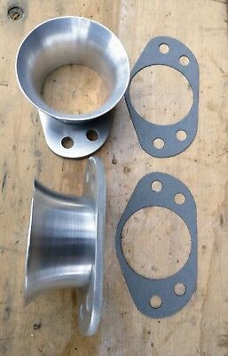 """Pair of Coombs Mk2 reproduction Air Trumpets / Ram Pipes to fit 2"""" SU Carbs"""