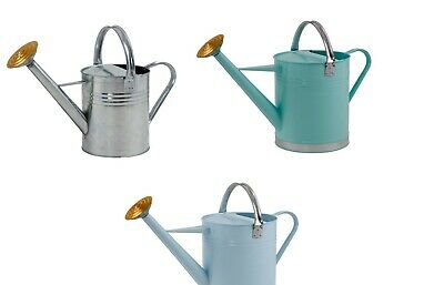 Galvanised Watering Can Blue Green Traditional watering can