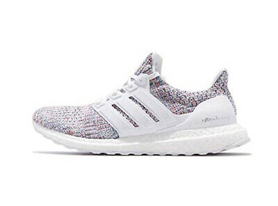 separation shoes bc090 93ab3 ADIDAS ULTRA BOOST 4.0 Men's White Multi Color Cloud White Blue DB3198