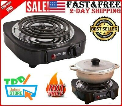 70b0f8f73d6 Portable Electric Single Burner Hot Plate Stove Dorm RV Travel Camping  Cooking