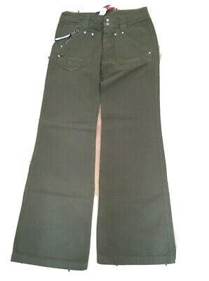 Diesel Girls trousers khaki age 10 casual flared new with tags