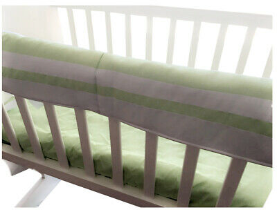 Kidz Kiss Petit Dots Reversible Cot Rail Bumper / Cradle Bumper [Green]