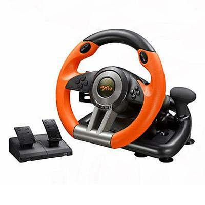 Support Window PC PS3 PS4 X-ONE Racing Game Steering Wheel with Brake Pedal