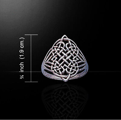 CELTIC DRUID INFINITY KNOTWORK Ring Sterling Silver