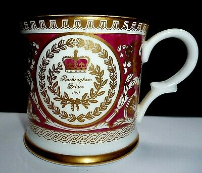 Fine Bone China Royal Crown Duchy Floral Mug Fancy Colours Dunoon Pottery