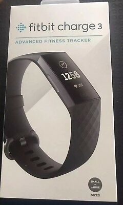 Pay only 166$ Brand NEW FITBIT Charge 3 Black fitness smart watch tracker