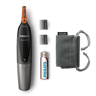 Philips Series 3000 Battery-Operated Nose, Ear & Eyebrow Trimmer No Pulling
