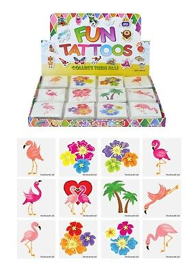 FLAMINGO Temporary Tattoos Boys Girls Kids Party Bag Fillers - Choose Quantity