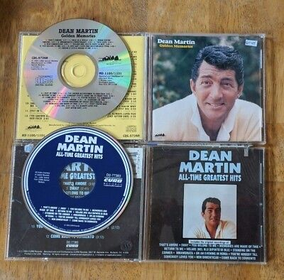 Dean Martin CD Lot - All-Time Greatest Hits & Golden Memories - Complete - $3 SH