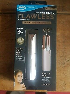 JML Finishing Touch Flawless Blush Edition, Facial Hair Remover 18K Gold Plated.