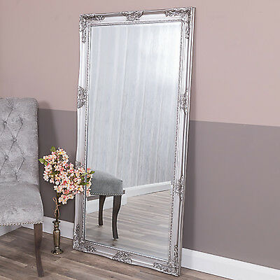 Extra Large Silver Wall Floor French Ornate Mirror Bedroom Hallway Living Decor