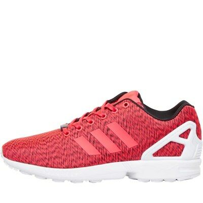 0520bc814 Mens adidas Originals ZX Flux Trainers Shock Red White UK SIZE 6.5 (RRP £