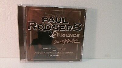 Paul Rodgers & Friends Live At Montrenx 1994 CD 2011 Eagle Records cd7585
