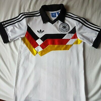 ADIDAS  VINTAGE 1990 WEST GERMANY RETRO SHIRT JERSEY FOOTBALL XS 34 In