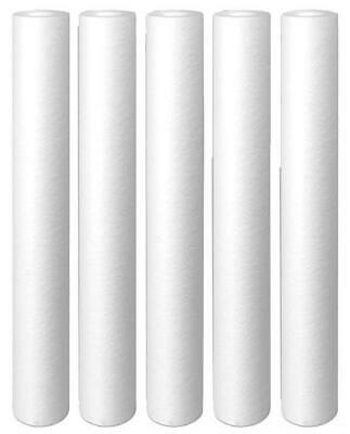 5-Pack 20 Inch X 2.5 Inch 5 Micron Polypropylene Sediment Filter Cartridge