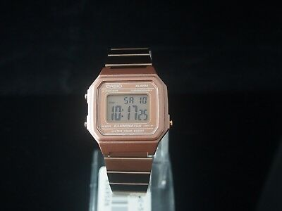CASIO Rose Gold Digital Stainless Steel Watch B650WC-5 100% Original NIB