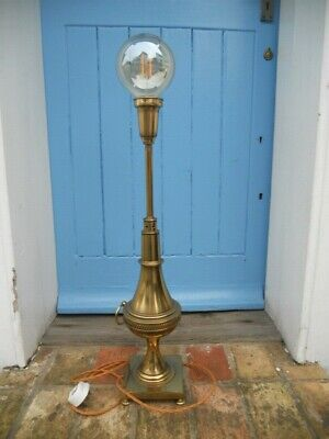 Early 1900's Brass Table Lamp, Newly Re-wired with Vintage Style Cable.