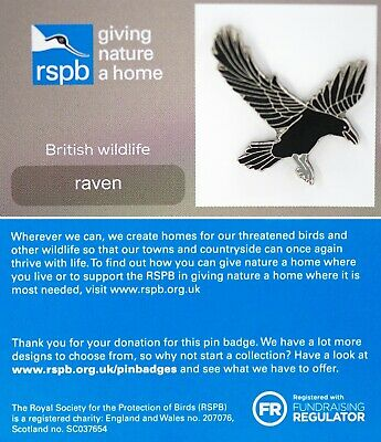 RSPB Pin Badge | raven GNAH (00422)
