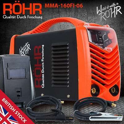 ARC Welder Inverter MMA 240V 160amp DC Portable Stick Machine + Mask - ROHR 06
